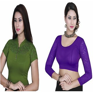 Gargi's Ladies High Fashion  Strechable Blouse Combo (pack of 2)