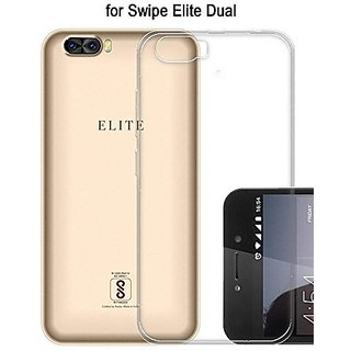 ECellStreet Transparent Soft Back Case Cover For Swipe Elite Dual 4G (5 Inch)