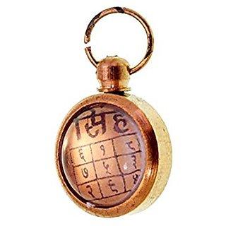 Sinh Singh Rashi Yantra Golden Ashtadhatu Pendant