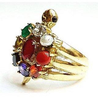 Kachua Ring With Natural Navratan Ring 100 Certified Stone Jaipur Gemstone