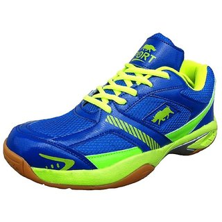 Port Unisex Blue Sanshi Indoor Court Badminton Shoes(Size 10 UK/IND)