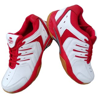Port Unisex Red Mizuno Pu badminton Shoes (11 UK/IND)