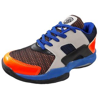 Port Unisex Multicolor Quick Force Pu Badminton Shoes(Size 11 UK/IND)
