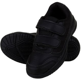 Fuel Boys Velcro Formal Boots (Black)