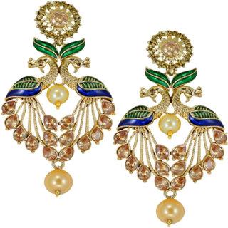 Shostopper Peacock Gold Plated Earrings For Women SJ6112EN