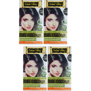 Organically Natural Gel Black Hair Colour One Touch Pack Of 4