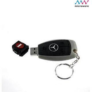 Microware New Designer Fancy MercedesBenz Key Shape 4GB Pen Drive