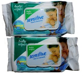 90 sensitive baby wipes - 2 pkt