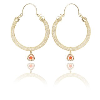 Meia Gold Plated Gold Alloy Hoop For Women
