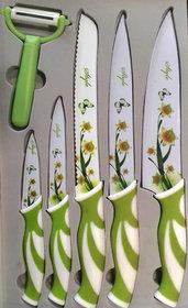 Welhouse India Kitchen 6 Pcs Knife Block Set, Family Chef Includes Storage Block.