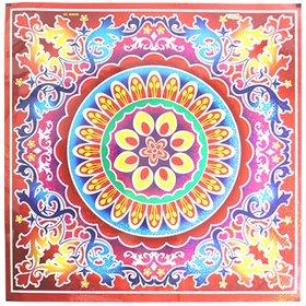 Rangoli Stickers Square 1 pc. (23.5 cm x 23.5 cm) - Assorted Designs