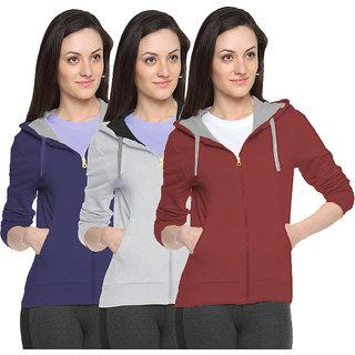 Fuego Fashion Wear Stylish Sweatshirt For WomenS-Pack Of 3
