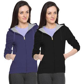 Fuego Fashion Wear Multicolour Sweatshirt For Women-Pack Of 2