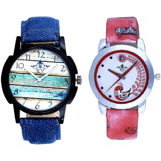 Spanish Art With Red More Couple Analogue Wrist Watch By SCK