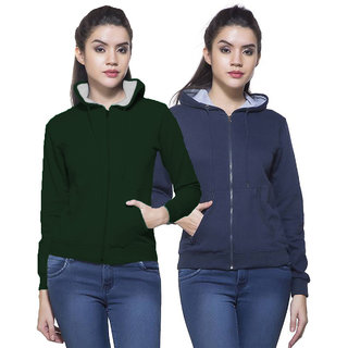 Fuego Fashion Wear Combo Of Women Sweatshirt-Pack Of 2