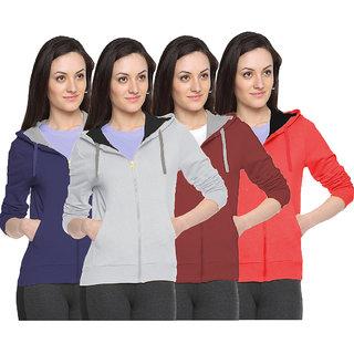 Fuego Fashion Wear Stylish Sweatshirt For Women'S-Pack Of 4