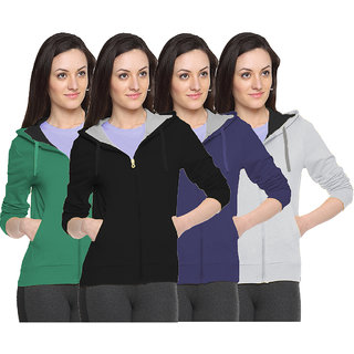 Fuego Fashion Wear Stylish Sweatshirt For Women'S-Pack Of 4