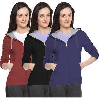 Fuego Fashion Wear Stylish Sweatshirt For Women'S-Pack Of 3