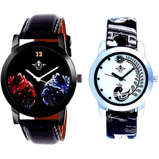 Jaguar Face Dial With Black More Couple Analogue Wrist Watch By SCK