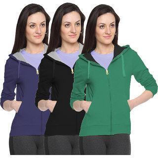Fuego Fashion Wear Stylish Sweatshirt For Women'S-Pack Of 3