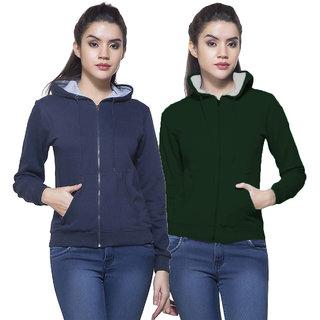 Fuego Fashion Wear Combo Of Women Sweatshirt-Pack Of 2