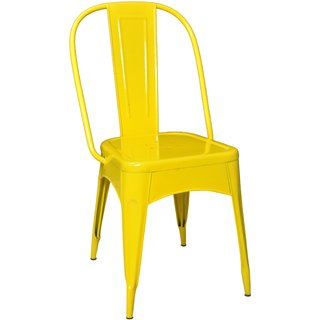 Nahta Industrial Dinning Chair In Yellow