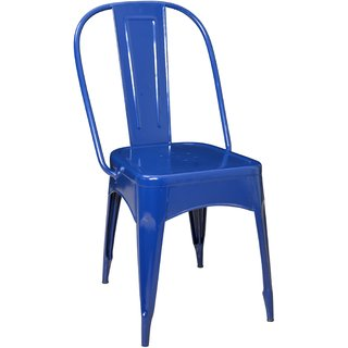 Nahta Industrial Dinning Chair In Blue