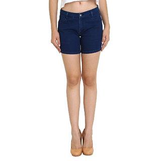 Fuego  Blue Shorts For Women
