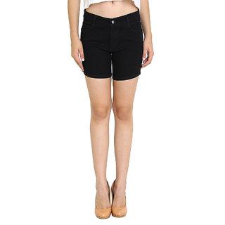 Fuego  Black Shorts For Women
