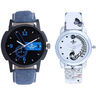 Luxury Blue And White Peacock Couple Analogue Watch By Gujarat Hub