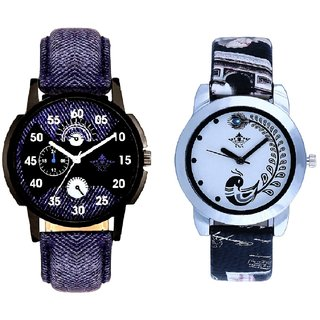 Special 3D Look And Black Peacock Couple Analogue Watch By Gujarat Hub