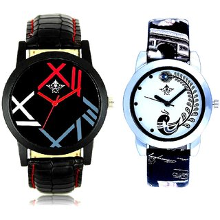 Roman Number Vintage Look And Black Peacock Couple Analogue Watch By Gujarat Hub