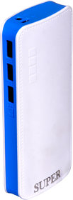 Orenics P6 fast charging 10000 mah power bank (white,blue)