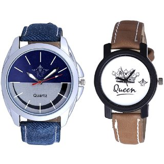 Latest Smile Dial And Queen Dial Couple Analogue Watch By Gujarat Hub