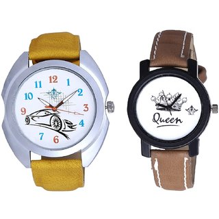 Audi Car And Queen Dial Couple Analogue Watch By Gujarat Hub