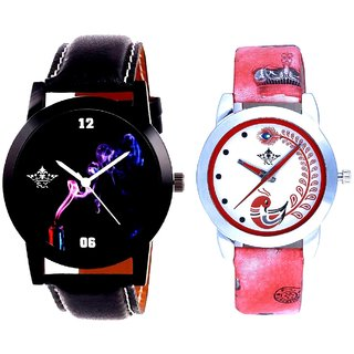 Smoking Men Designer With Red More Couple Analogue Wrist Watch By Gujarat Hub