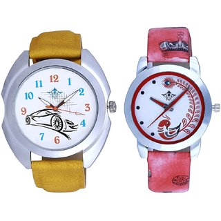 Fast Car With Red More Couple Analogue Wrist Watch By Gujarat Hub