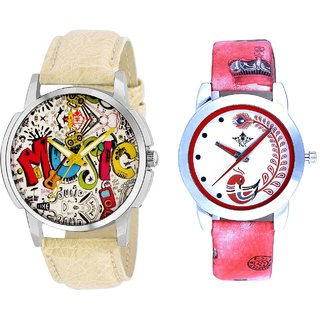 World Rock Music With Red More Couple Analogue Wrist Watch By Gujarat Hub