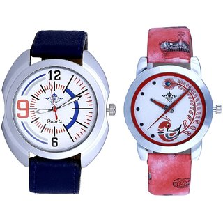 Fancy Sport Dial With Red More Couple Analogue Wrist Watch By Gujarat Hub