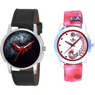Red Batman With Red More Couple Analogue Wrist Watch By Gujarat Hub