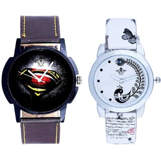 Special Super Men Dial With White More Couple Analogue Wrist Watch By Gujarat Hub