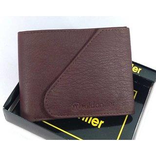 Wildantler Men Brown Kaan Artificial Leather Wallet (6 Card Slots)