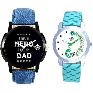 Always Hero Of My Life With Green More Couple Analogue Wrist Watch By Gujarat Hub