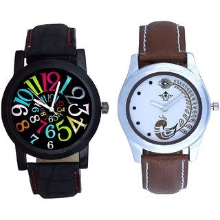 Awesome Digit With Brown More Couple Analogue Wrist Watch By Gujarat Hub