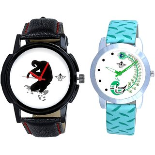 No Pain No Gain With Green More Couple Analogue Wrist Watch By Gujarat Hub
