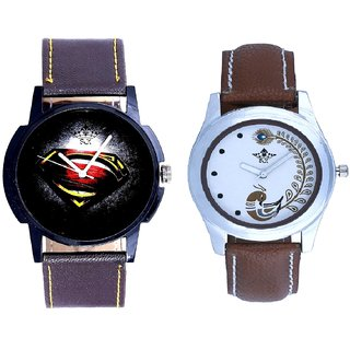 Special Super Men Dial With Brown More Couple Analogue Wrist Watch By Gujarat Hub