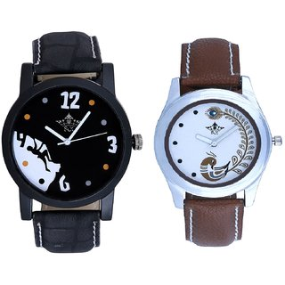 Goal Art With Brown More Couple Analogue Wrist Watch By Gujarat Hub