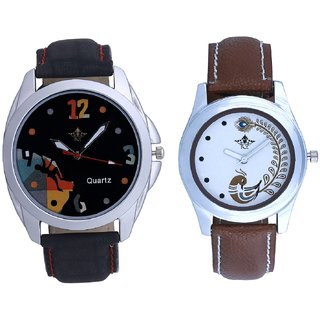 Goal Multi Dial With Brown More Couple Analogue Wrist Watch By Gujarat Hub