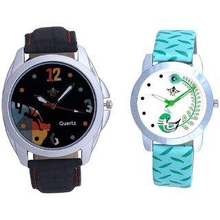Goal Multi Dial With Green More Couple Analogue Wrist Watch By Gujarat Hub
