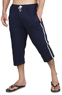Fitwell 100% Hosiery Cotton Mens Capri with Side Zip Pockets